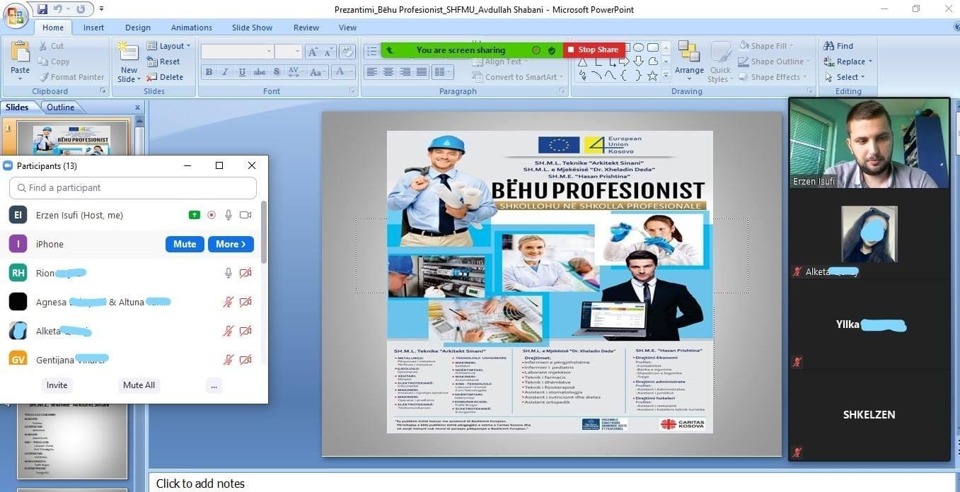 Promovimi i shkollave profesionale në Mitrovicë
